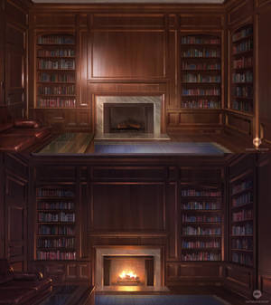 Mansion Library (VN Background)
