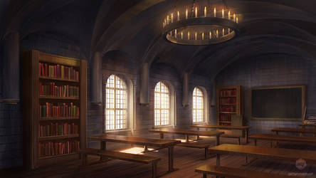 Commission: Castle Classroom by ExitMothership