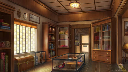 Commission: Antiquities Shop by ExitMothership