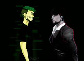 Darkiplier vs Antisepticeye by Jackid13