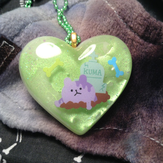 Zom-Bear Resin Heart by laffatgravity