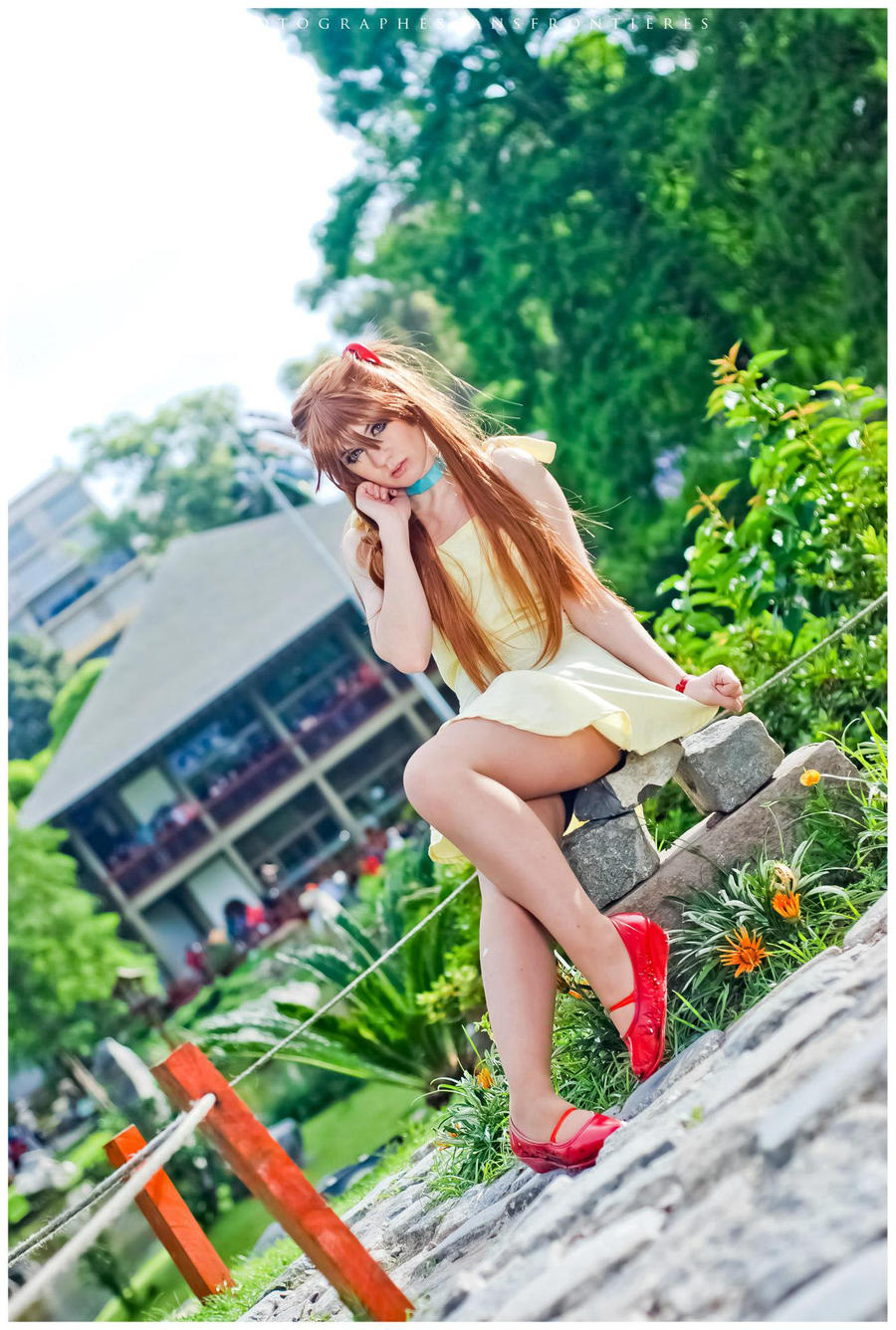 Asuka Langley Yellow dress by neliiell