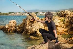 Final Fantasy XV - Noctis - Fishing time 3 by Krisild
