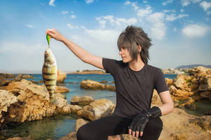 Final Fantasy XV - Noctis - Fishing time 4 by Krisild