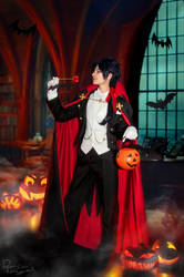 Dramatical Murder - Koujaku - Trick or treat by Krisild
