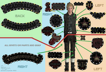Final Fantasy XV Prompto patches and rivets by Krisild