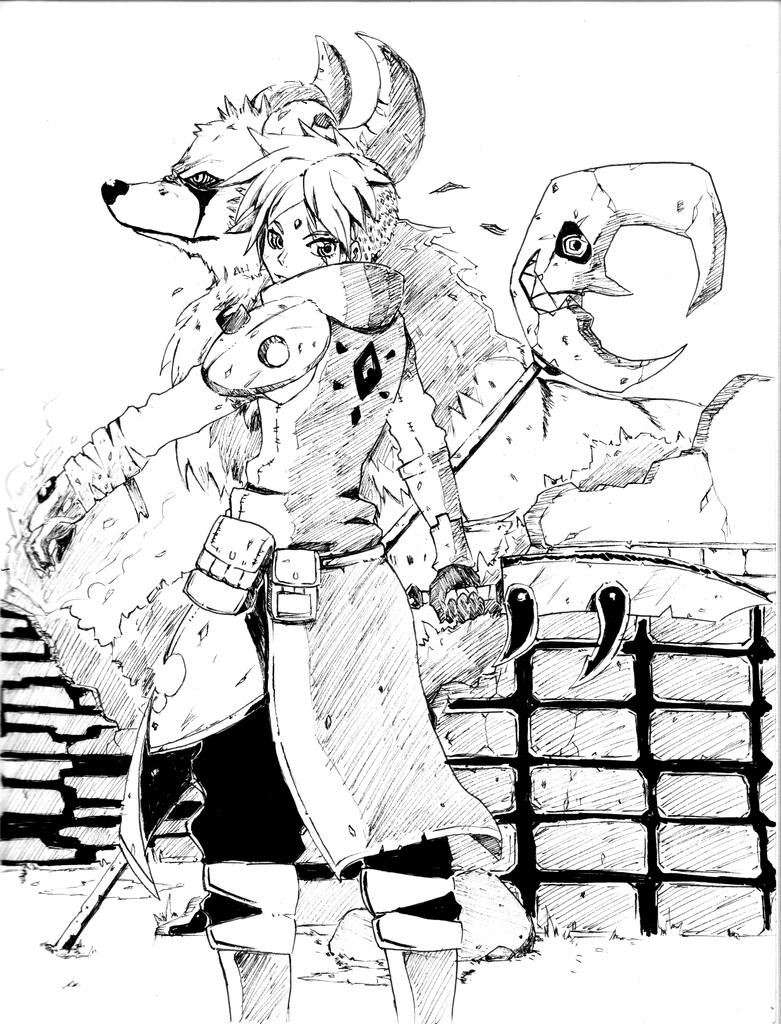 Crescent Warrior (Inktober 2014 day 3) by tzuba