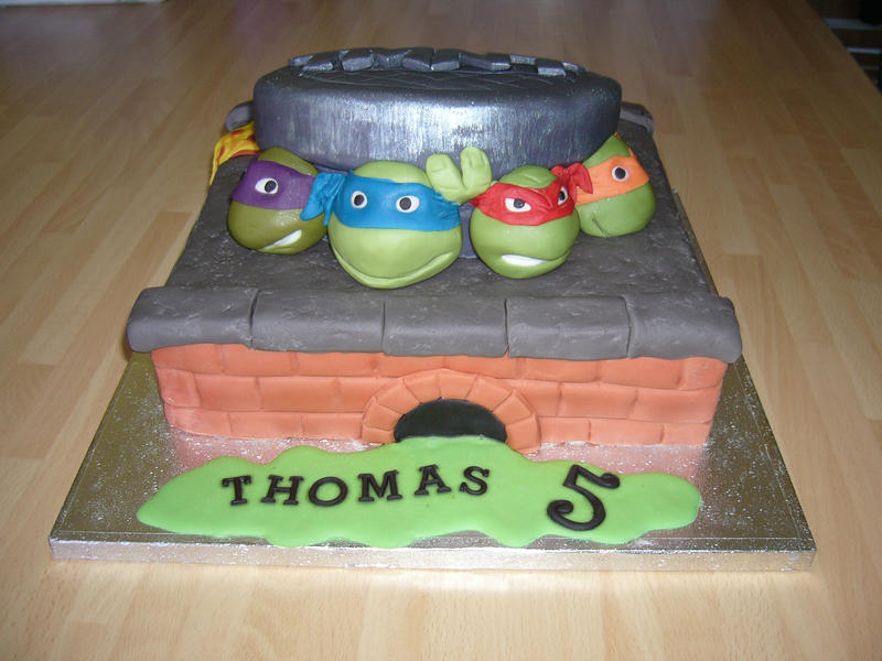 TMNT cake by mike-a