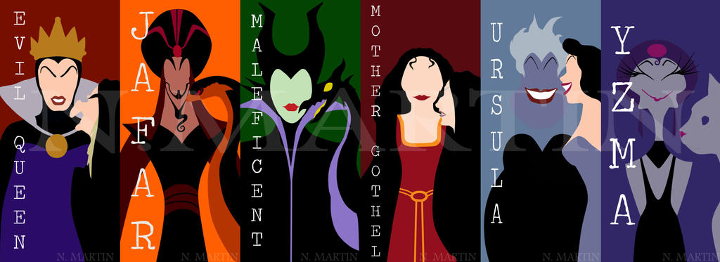 Disney Villain Silhouettes Two Faced Villains Disney by