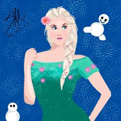 Elsa Frozen Fever  - Humanized by kykiochan