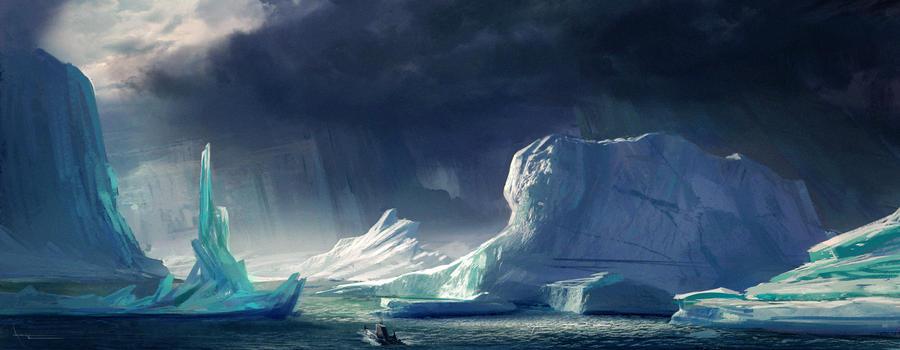 Icebergs by annisahmad