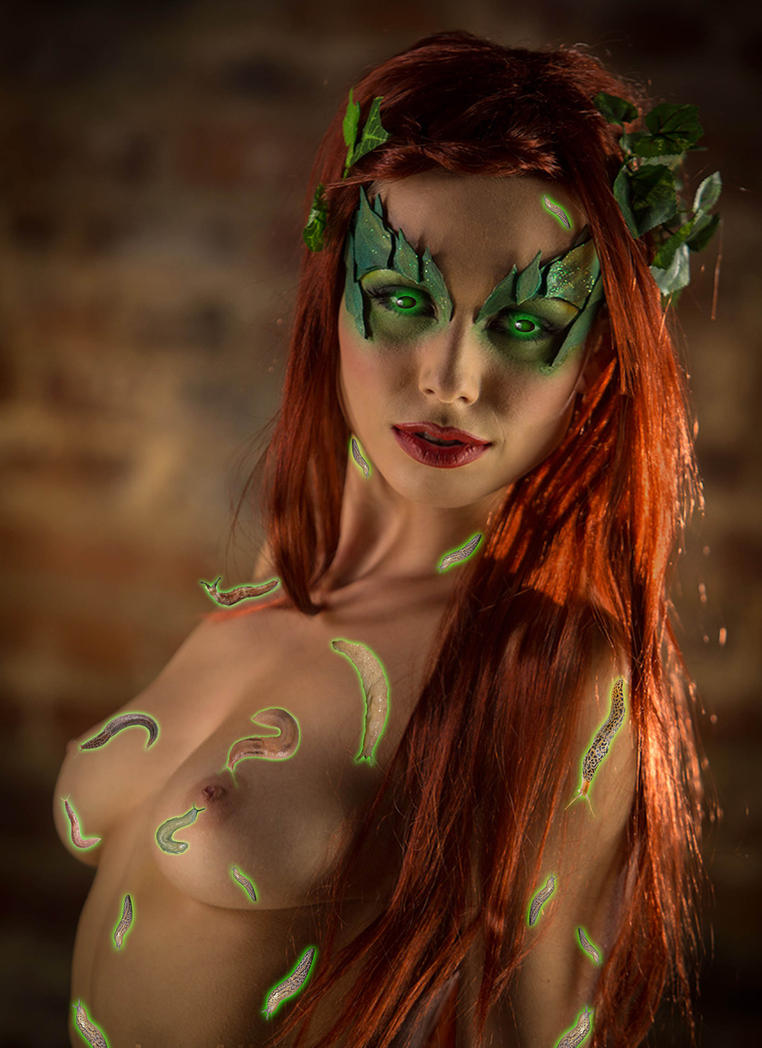 Poison ivy and her pet brain slugs by darkside7777777