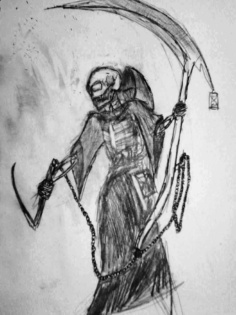 Uncategorized Drawing Of Grim Reaper grim reaper pencil drawing by korak the mad on deviantart mad