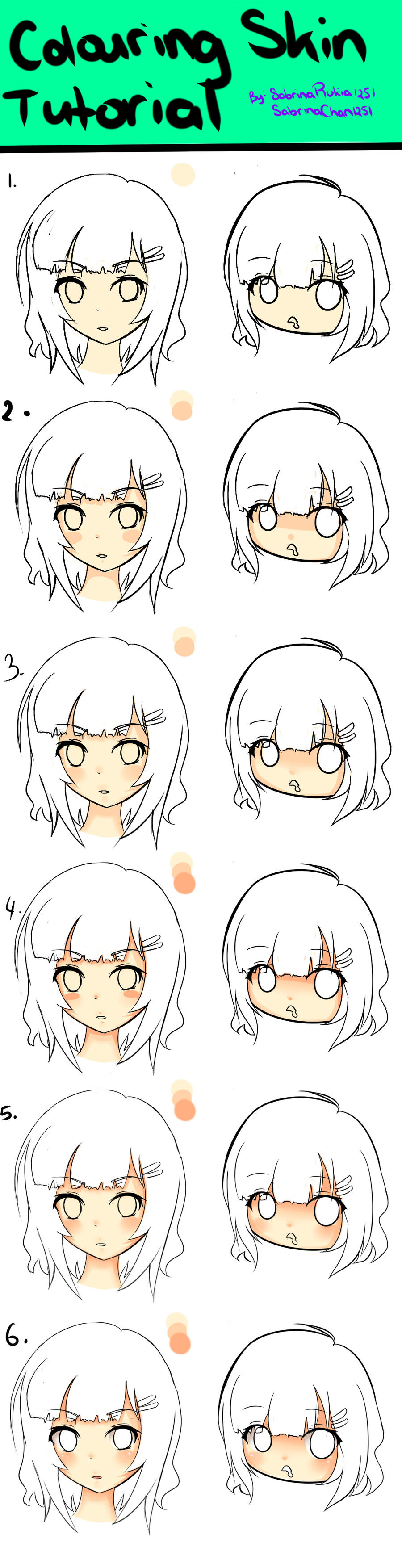 Skin Colouring Tutorial My style by ShiyumiChan