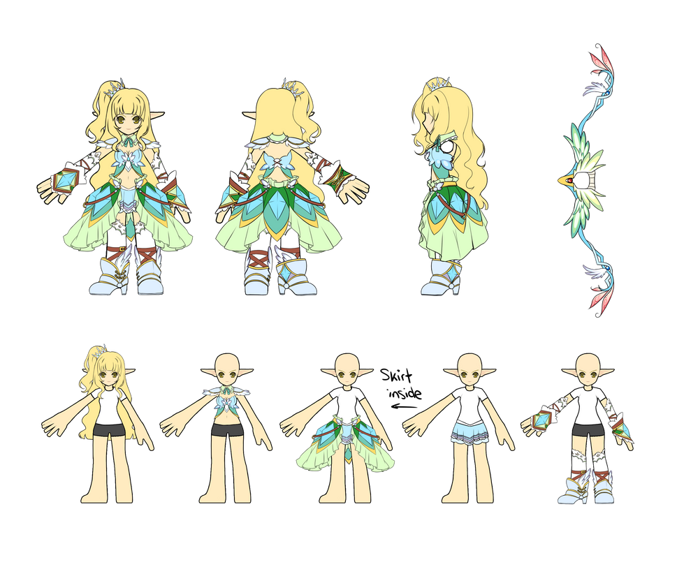 Character Design Contest 2014 : Elsword costume design contest rena by shiyumichan on