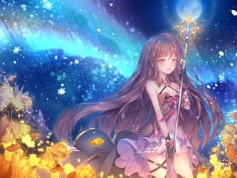 C| Aurora Borealis and Gingko by ShiyumiChan