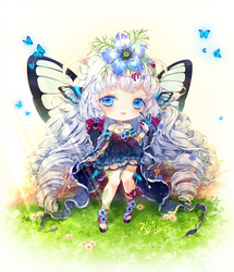 C| Butterfly on the Sunny Hill C: