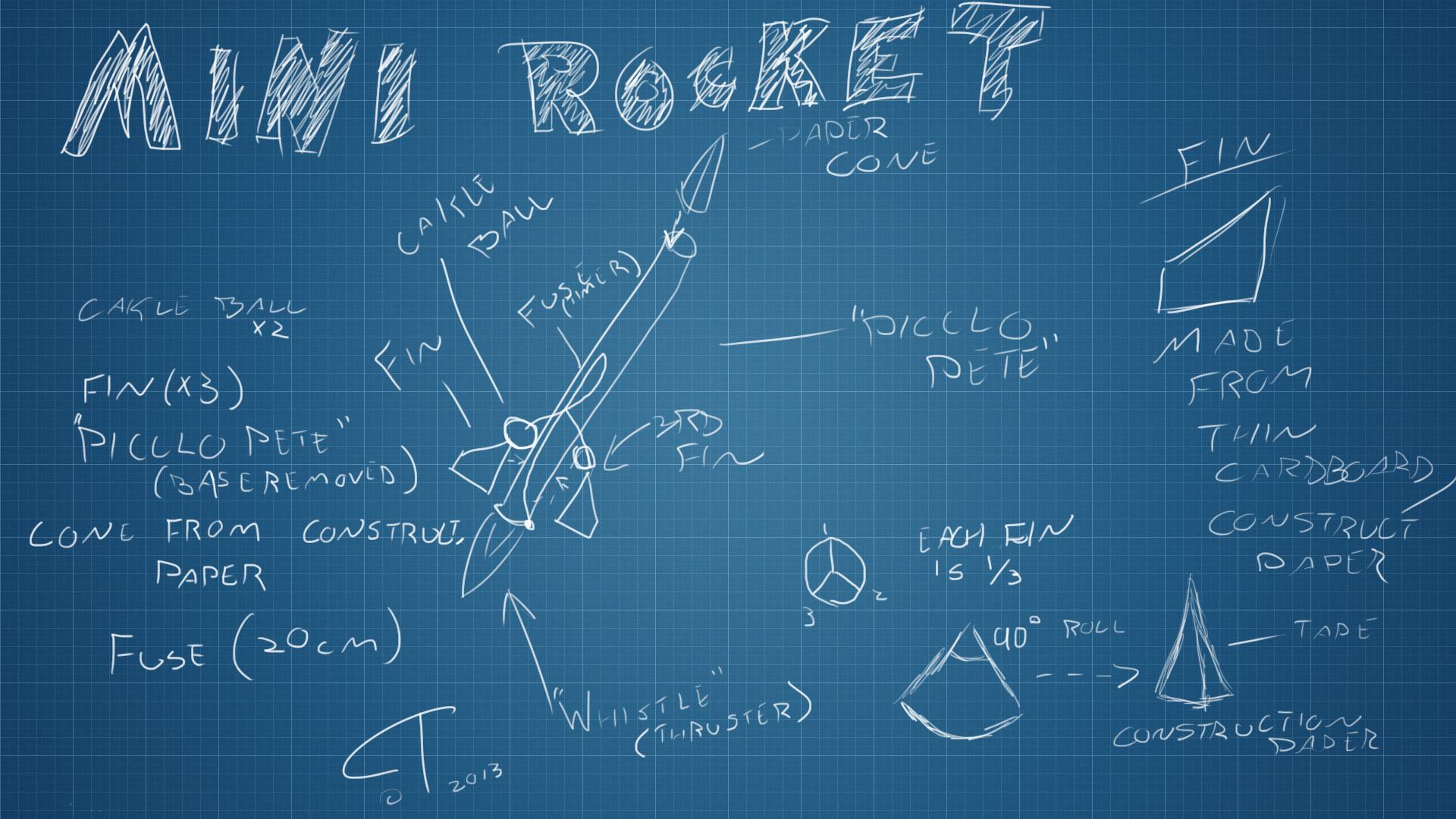 Whistle firework rocket blueprints by cyntehl on deviantart Print blueprints
