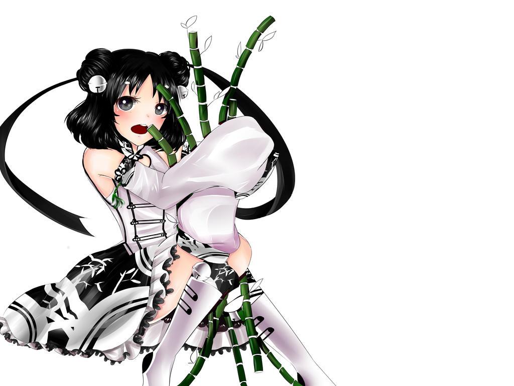 Wip Panda Girl by aikopinku