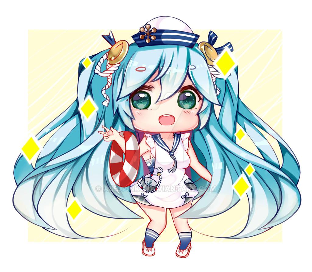 Chibi Miku by aikopinku