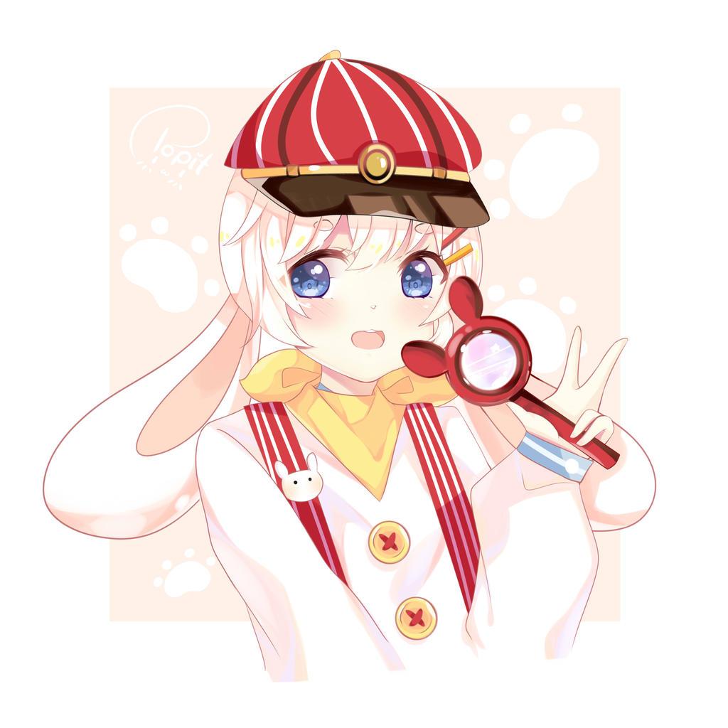 (commission) Kyoku's mascot Mafuyu by aikopinku