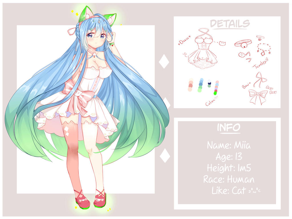 (commission) Design Charactor Miia by aikopinku