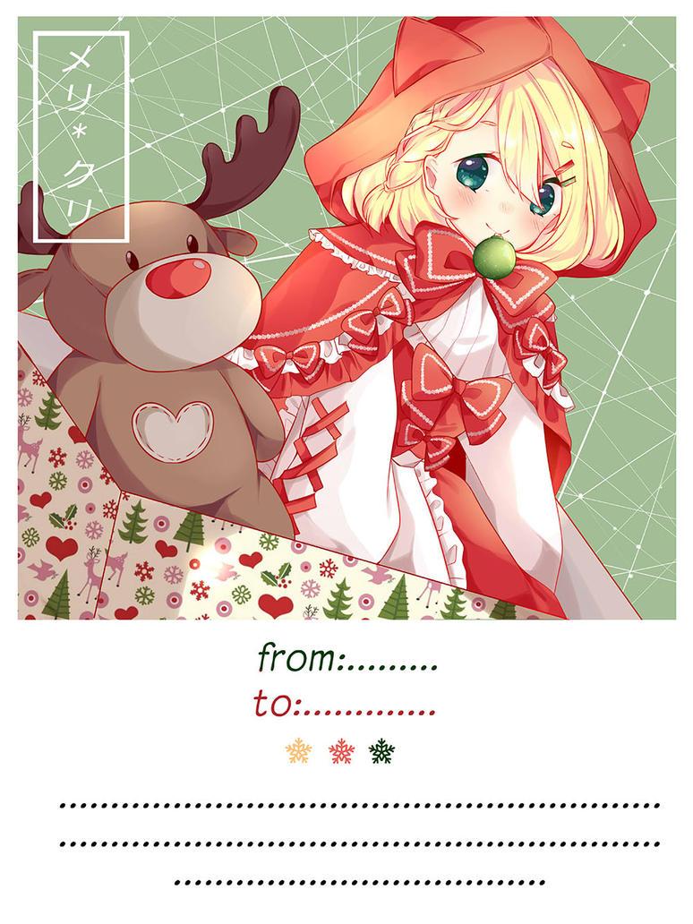 Chrismas Postcard by aikopinku