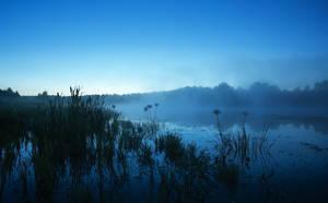 sunrise in blue