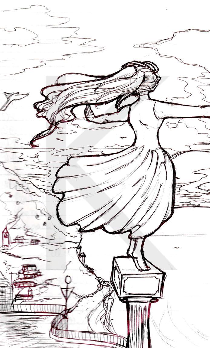 Flying Sketch by HappyHyperHaro