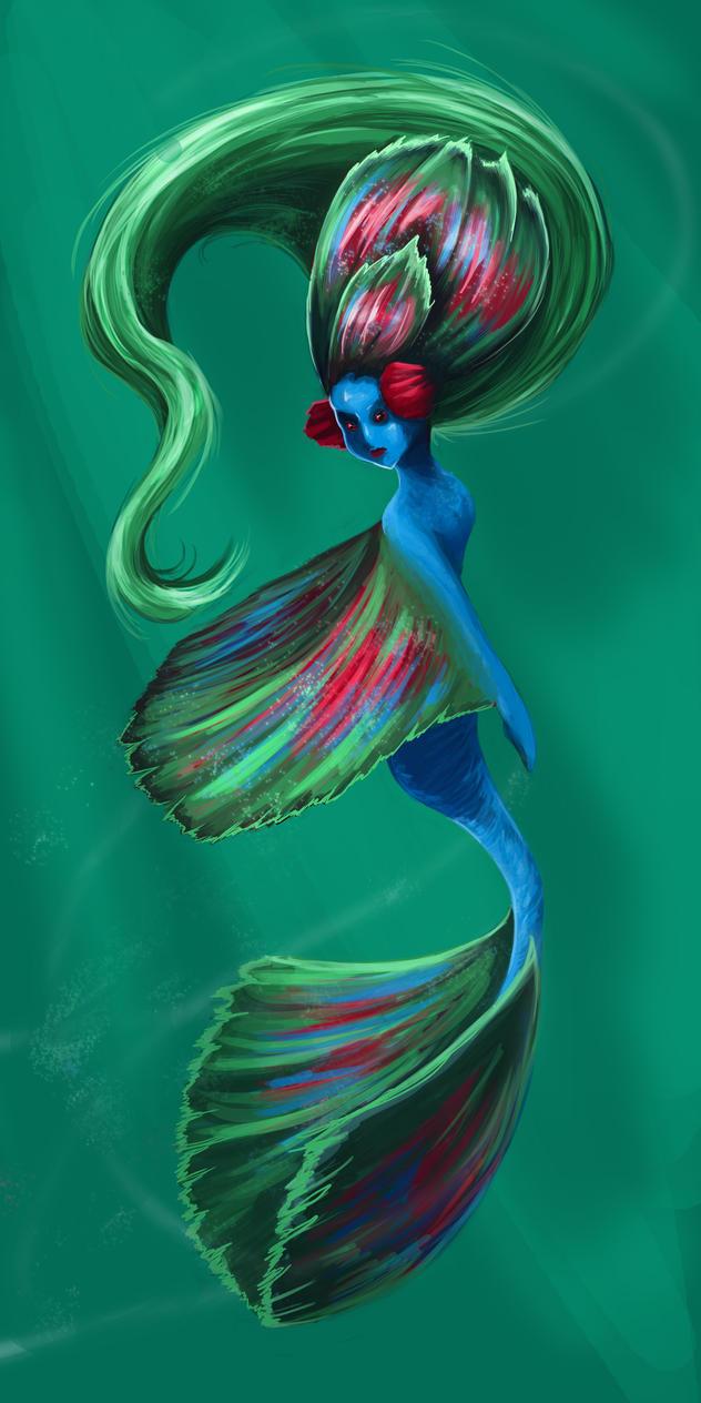 Half Moon Beta Mermaid by HappyHyperHaro