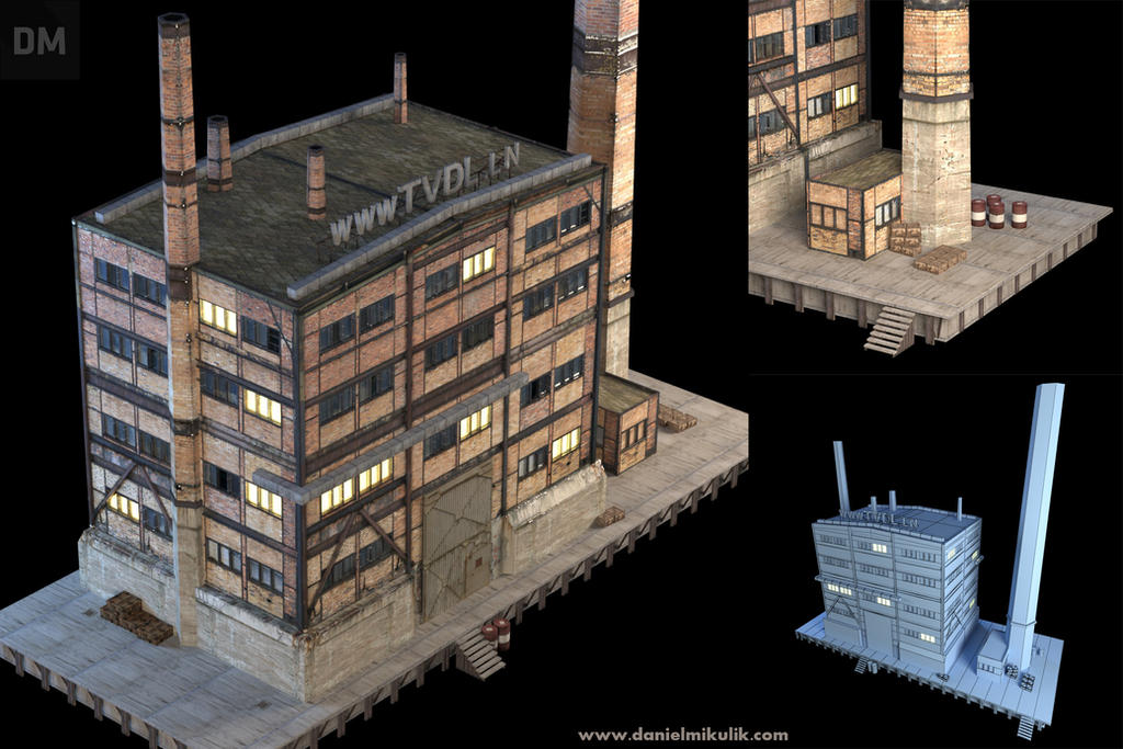 Abandoned Factory 3d Model by Cerebrate