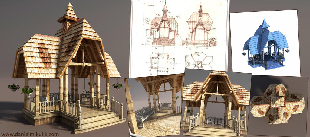 Le Gazebo 3d Model by Cerebrate