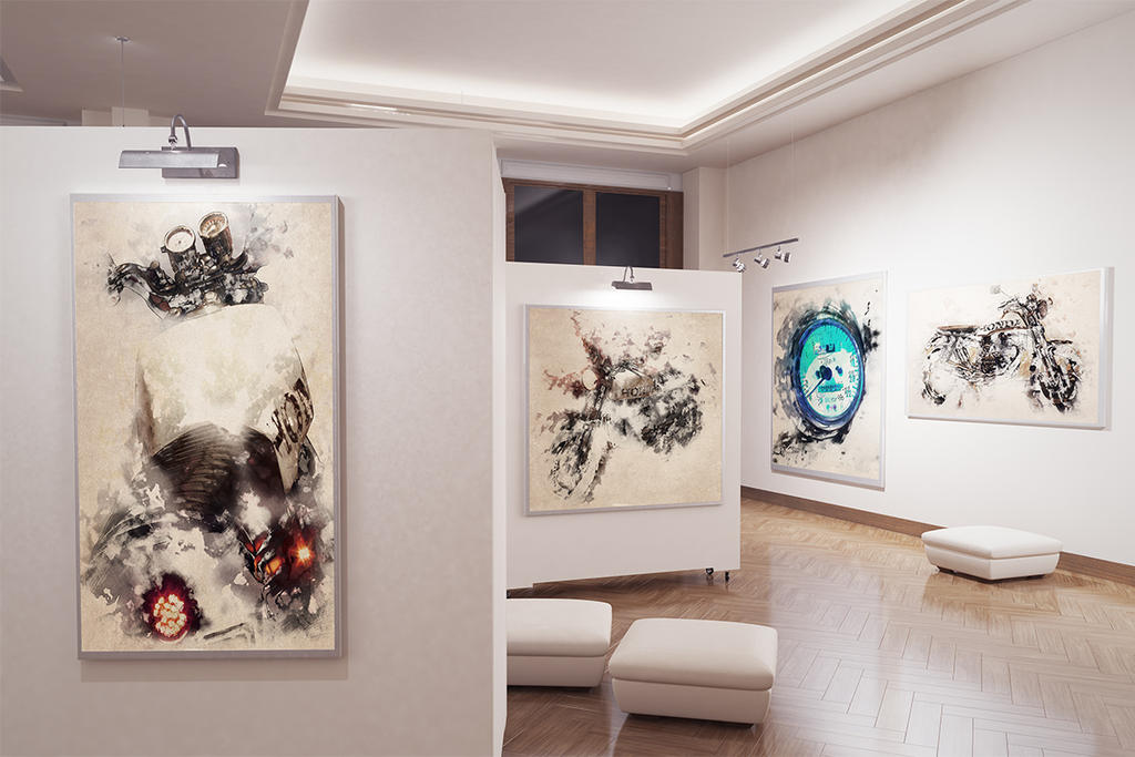 Gallery With Water color painting by Cerebrate