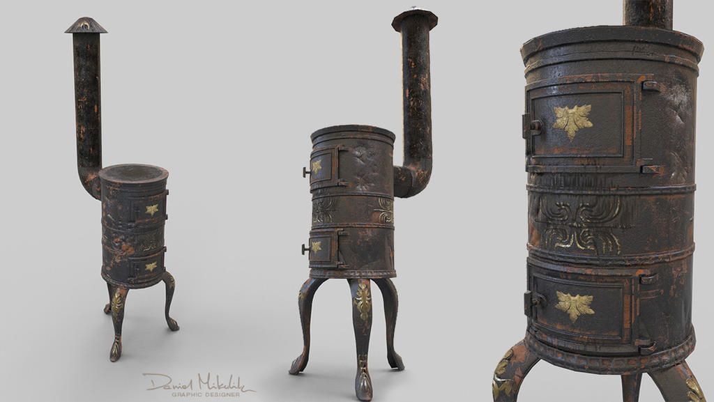 Old Stove Low Poly PBR by Cerebrate