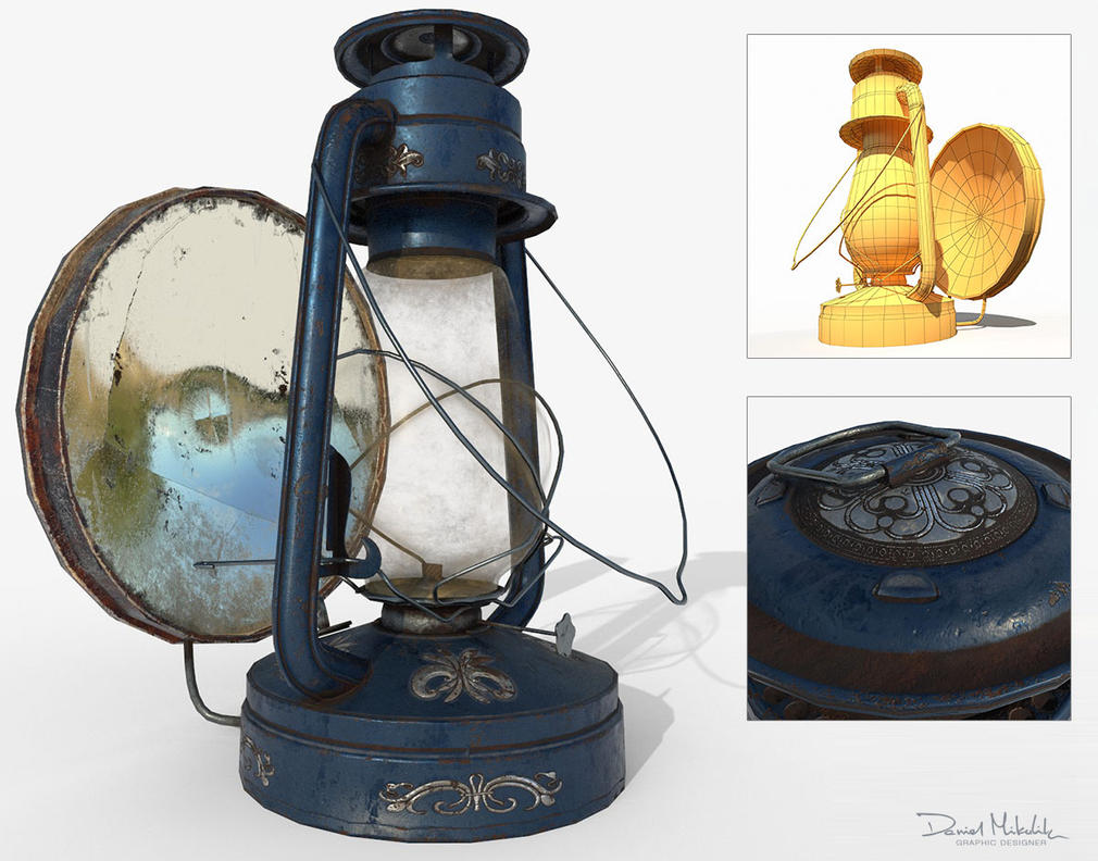 Oil Lamp PBR Low Poly 3d Model by Cerebrate