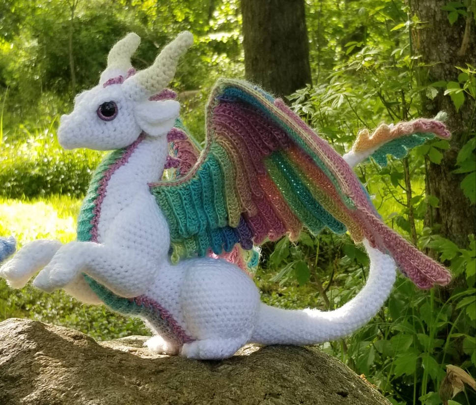 Pastel Rainbow Feathered Dragon
