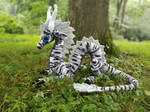 Black and White Eastern Dragon (1 of 2)