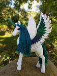 Teal and White Alicorn (1 of 2)