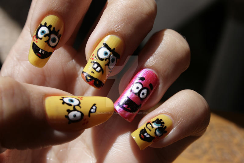 SpongeBobed Nails by HananeMOUJAHID