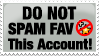 DO NOT Spam Fav Stamp by anniemae04