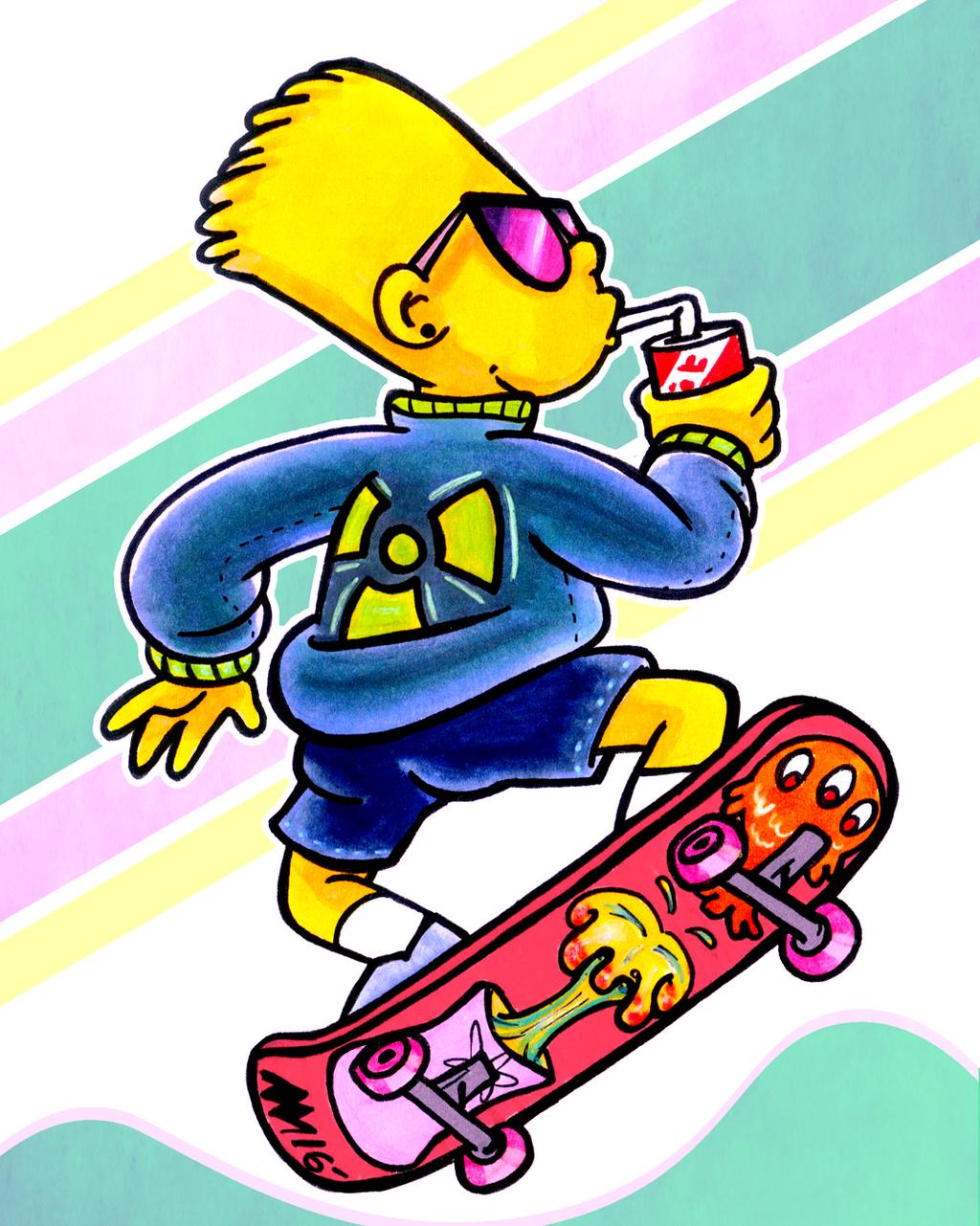 Cool Nuclear Bart by anniemae04 on DeviantArt
