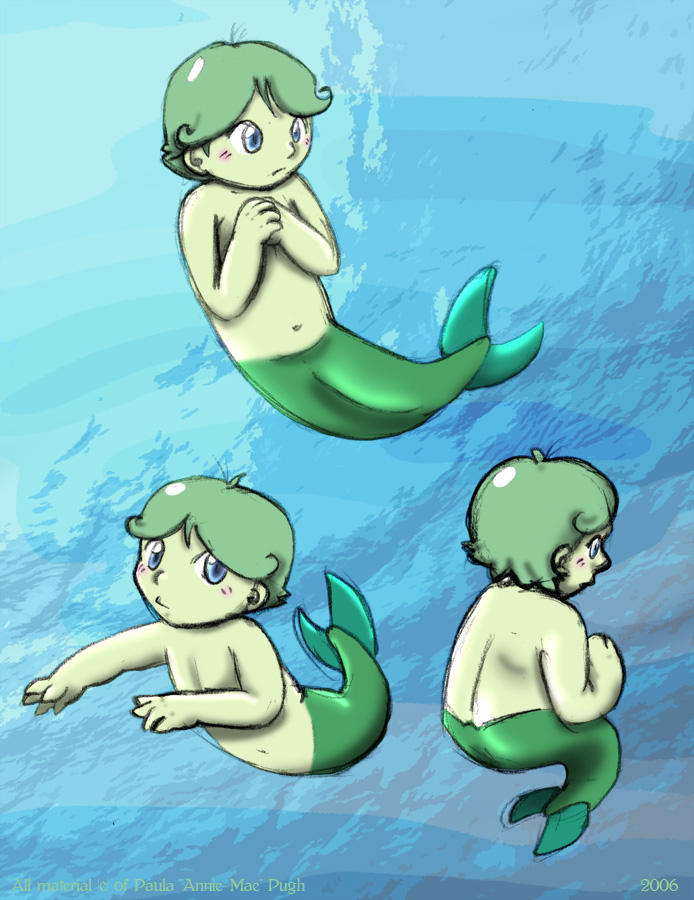 Little Mermaid Boy by anniemae04