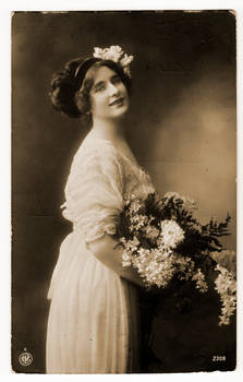 vintage - flower woman