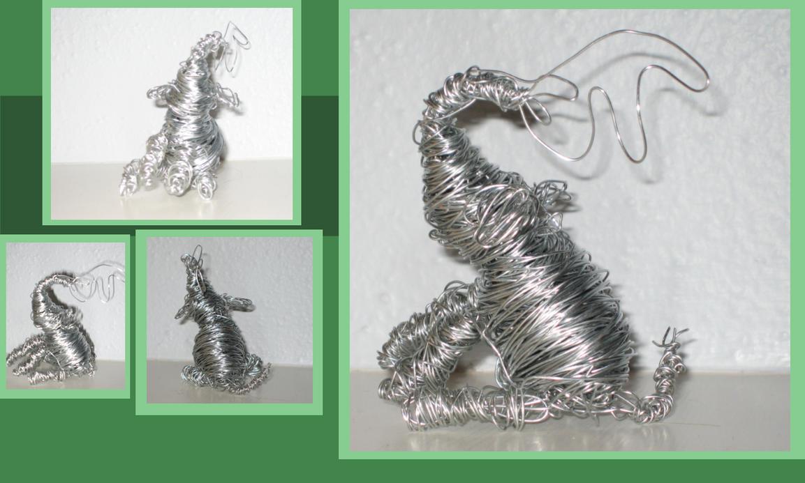 how to make a wire sculpture giraffe
