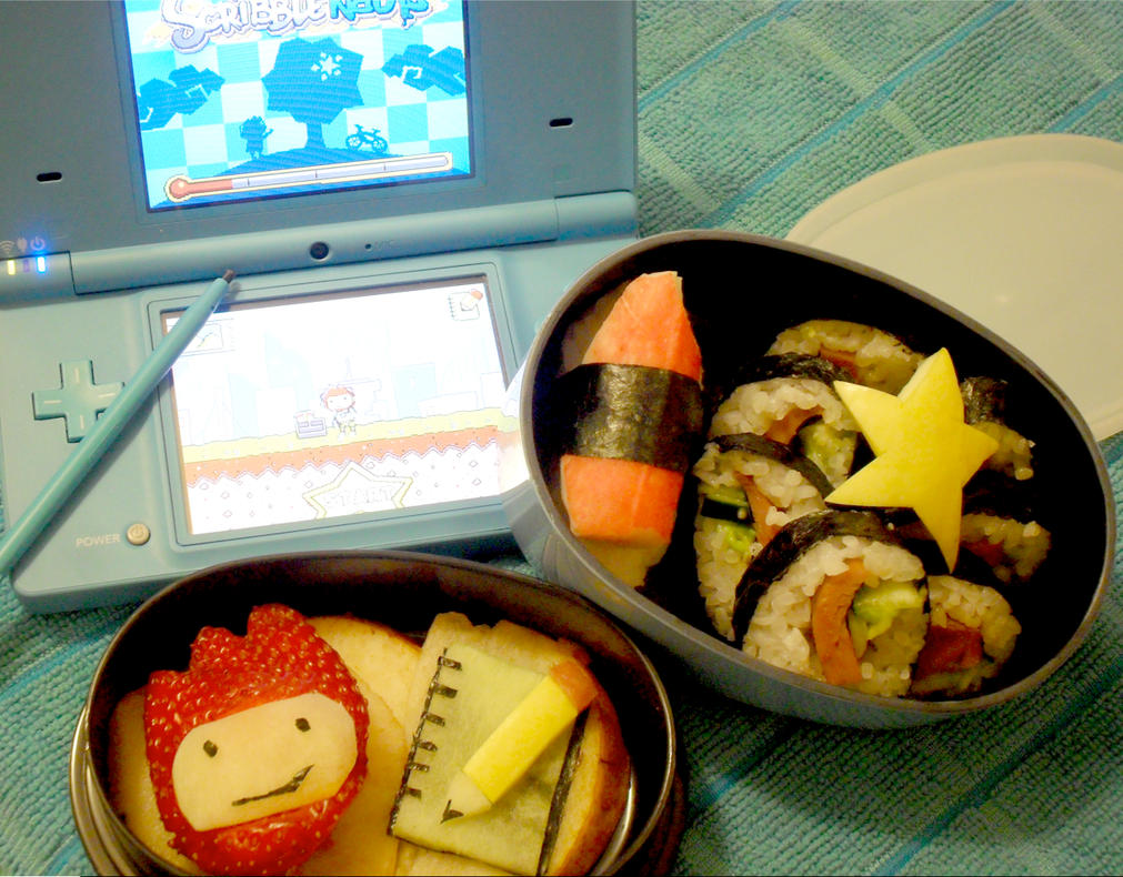 Scribblenauts Snack Bento by mindfire3927