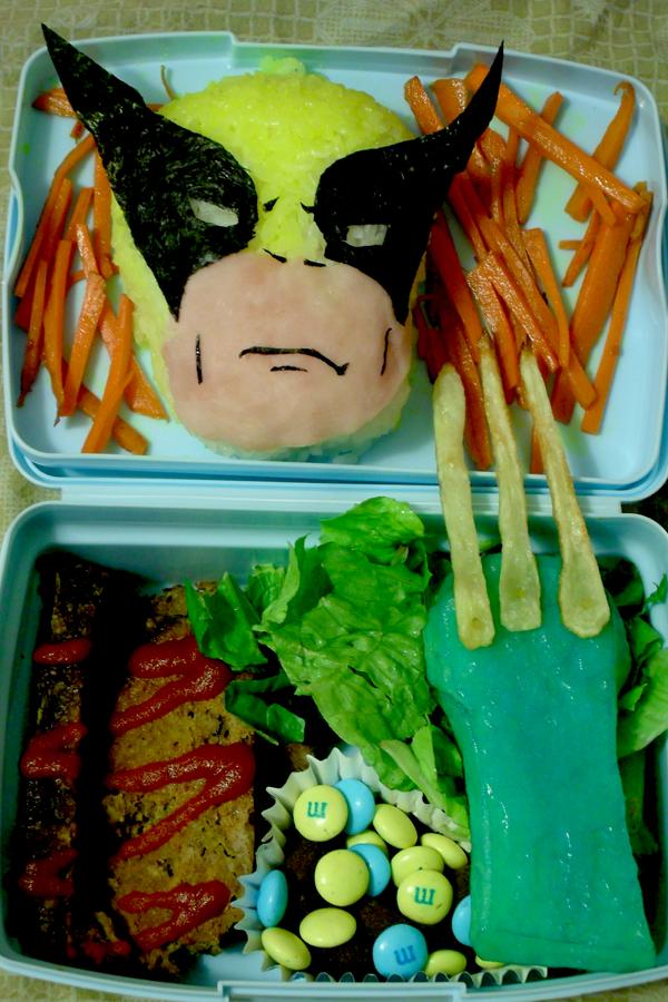 http://easybentoboxrecipes.blogspot.com/2013/11/artistic-wolverine-bento-box-recipe.html