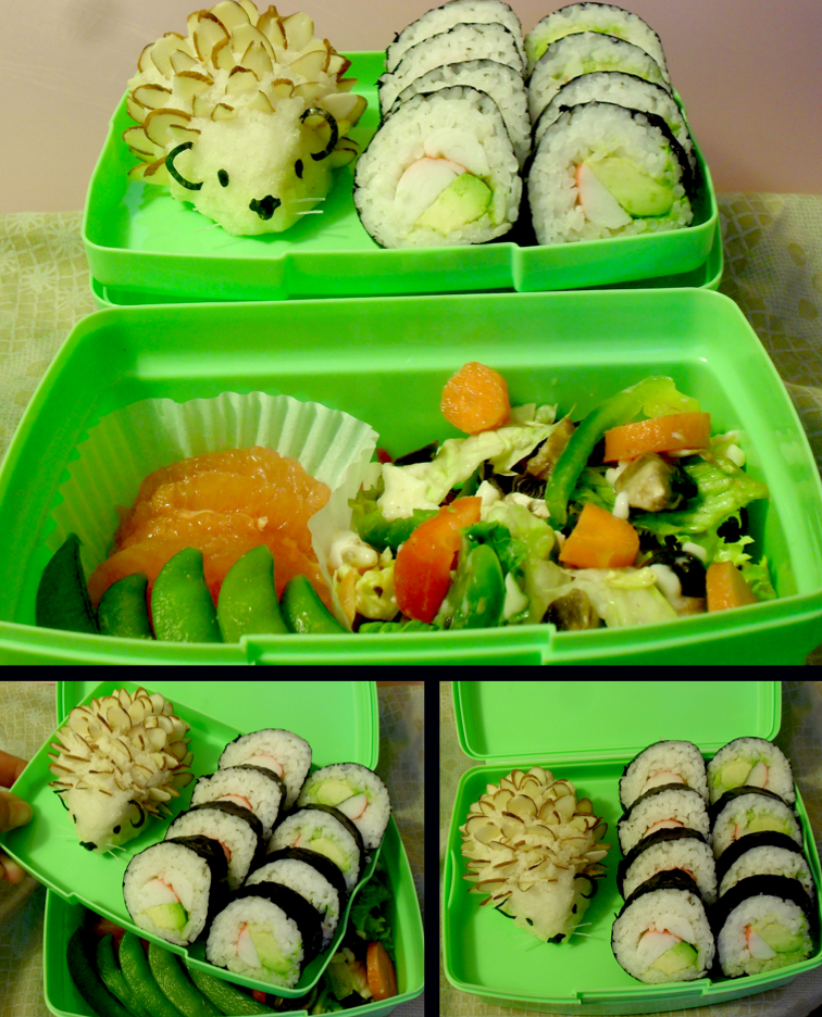 Hedgehog Bento by mindfire3927