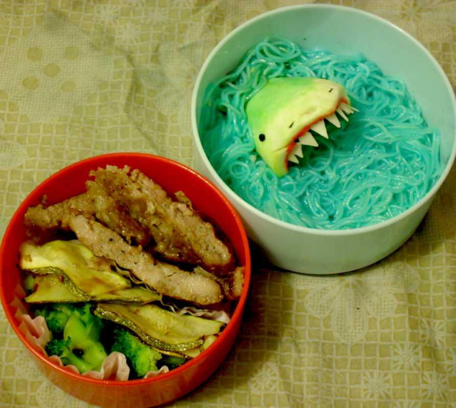 Great White Shark Bento by mindfire3927