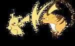 Pikachu Vs  Raichu