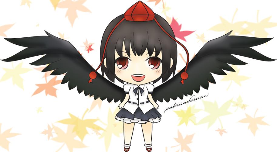 Chibi Aya Shameimaru Colored by sakuradesune